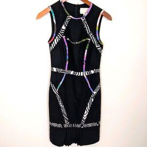 Atelier Nicole Miller black sheath dress